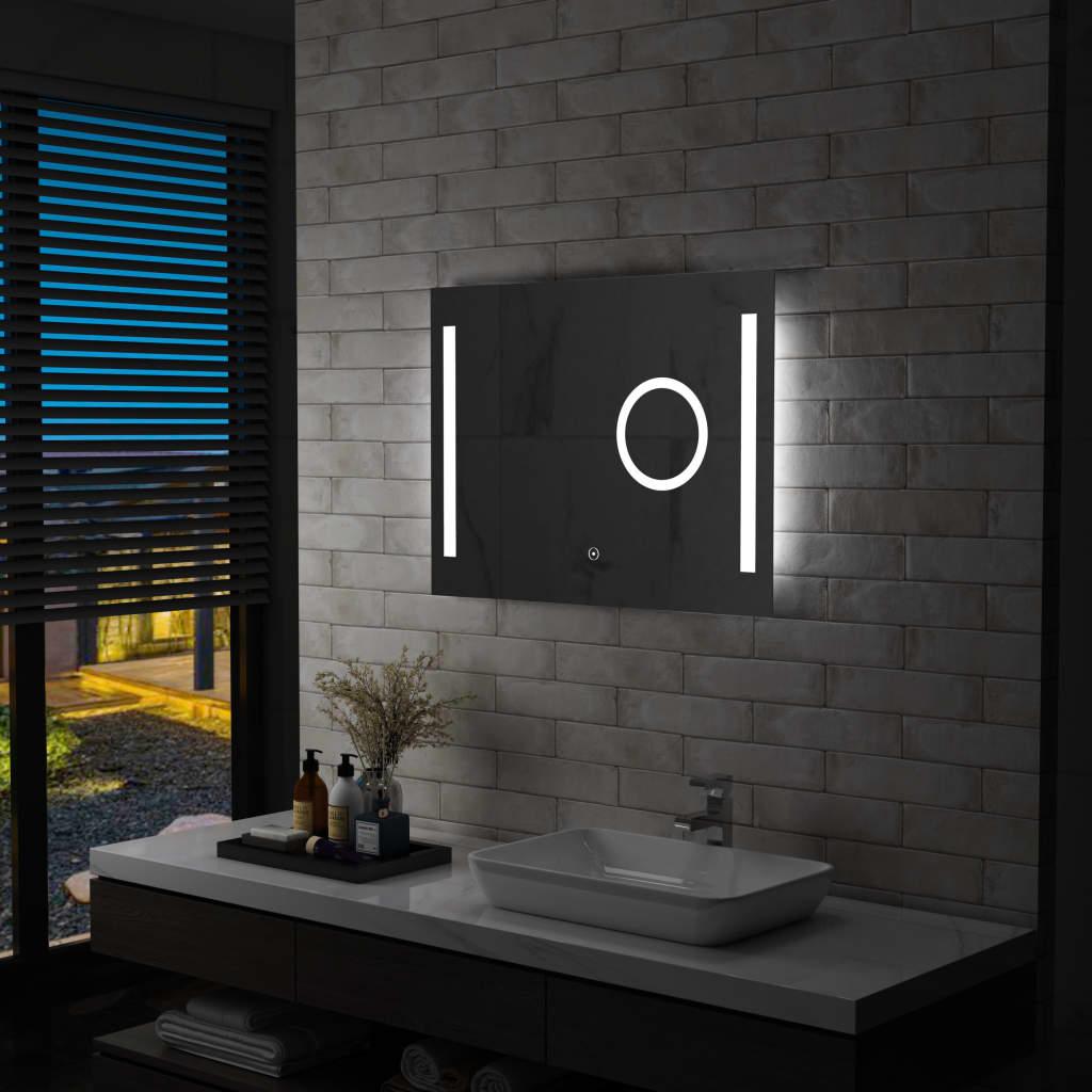 vidaXL Oglindă cu LED de perete de baie cu senzor tactil, 80 x 60 cm poza vidaxl.ro