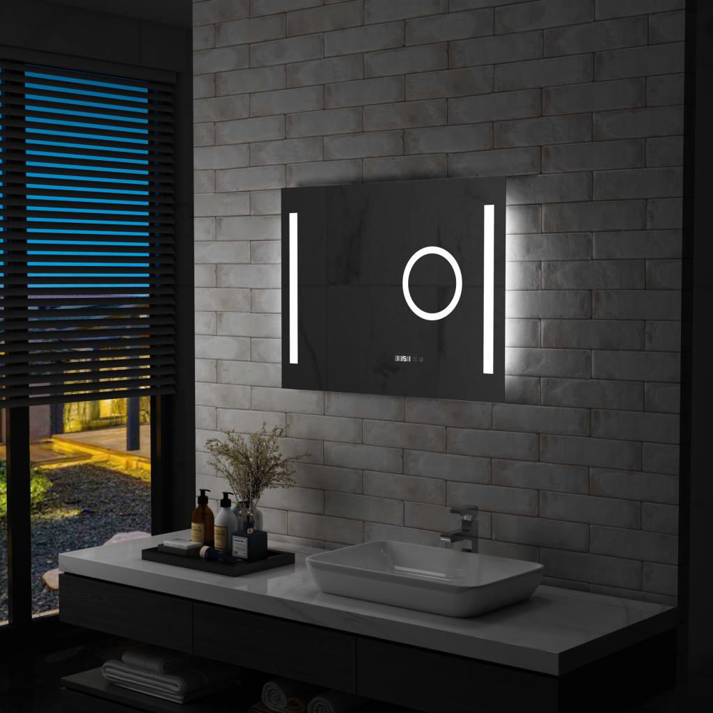 vidaXL Lustro łazienkowe z LED i czujnikiem dotykowym, 80x60 cm