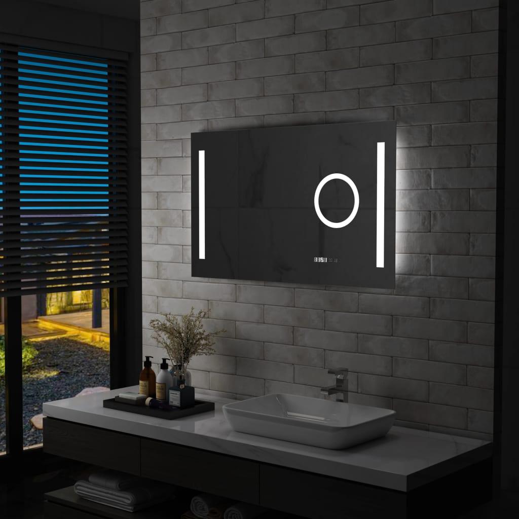 vidaXL Oglindă cu LED de perete de baie cu senzor tactil, 100x60 cm poza 2021 vidaXL