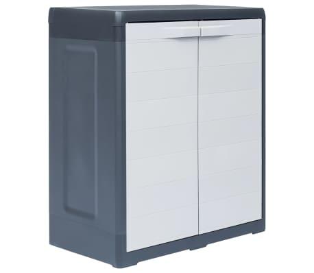 "vidaXL Garden Storage Cabinet XL 30.7""x18.1""x37"" Plastic"