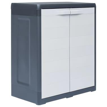 "vidaXL Garden Storage Cabinet XL 30.7""x18.1""x37"" Plastic[1/9]"