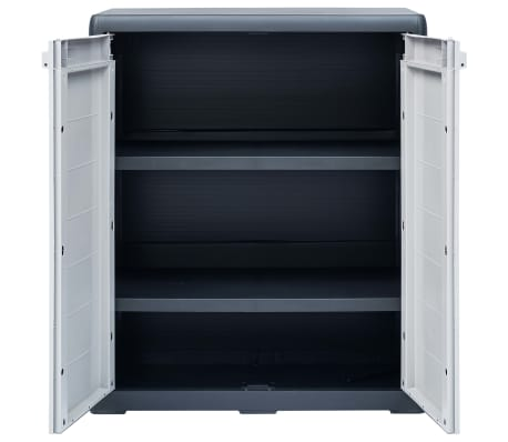 "vidaXL Garden Storage Cabinet XL 30.7""x18.1""x37"" Plastic[5/9]"