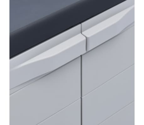 "vidaXL Garden Storage Cabinet XL 30.7""x18.1""x37"" Plastic[6/9]"