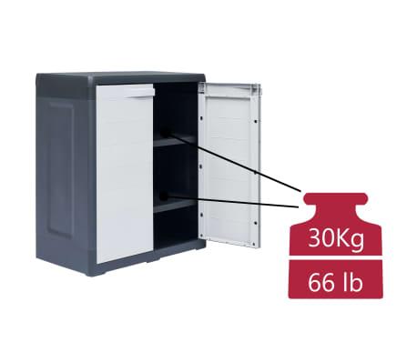 "vidaXL Garden Storage Cabinet XL 30.7""x18.1""x37"" Plastic[8/9]"