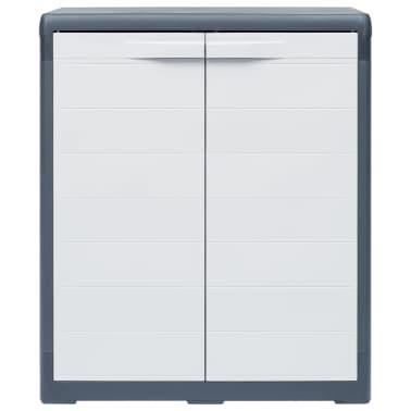 "vidaXL Garden Storage Cabinet XL 30.7""x18.1""x37"" Plastic[2/9]"