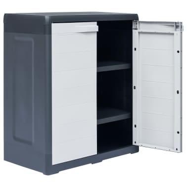 "vidaXL Garden Storage Cabinet XL 30.7""x18.1""x37"" Plastic[4/9]"