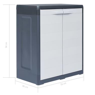 "vidaXL Garden Storage Cabinet XL 30.7""x18.1""x37"" Plastic[9/9]"