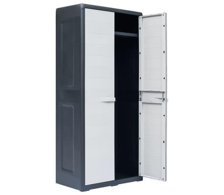 vidaXL Dulap de depozitare pentru grădină, 78x46x175 cm, plastic, XL[3/10]