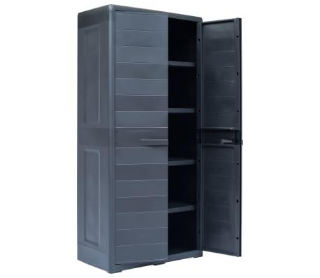 vidaXL Armadietto da Giardino XL 78x46x175 cm in Plastica[3/10]