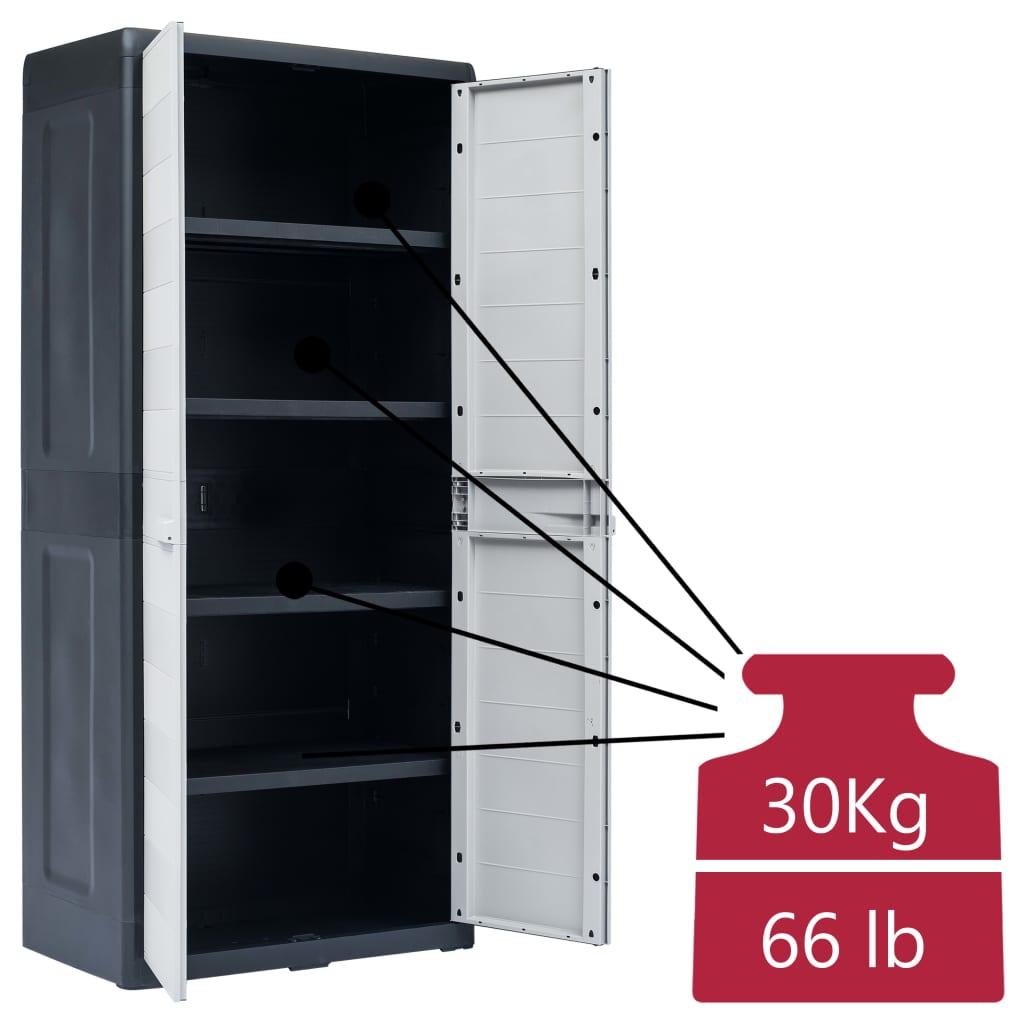 VIDAXL ARMOIRE DE Rangement de Jardin Garage XL Plastique Cabane à ...