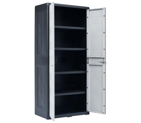 "vidaXL Garden Storage Cabinet XL 30.7""x18.1""x68.9"" Plastic[4/10]"
