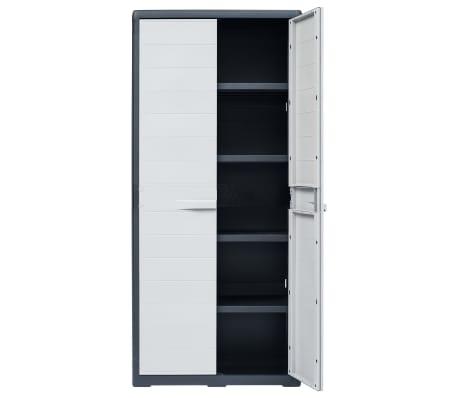 "vidaXL Garden Storage Cabinet XL 30.7""x18.1""x68.9"" Plastic[5/10]"