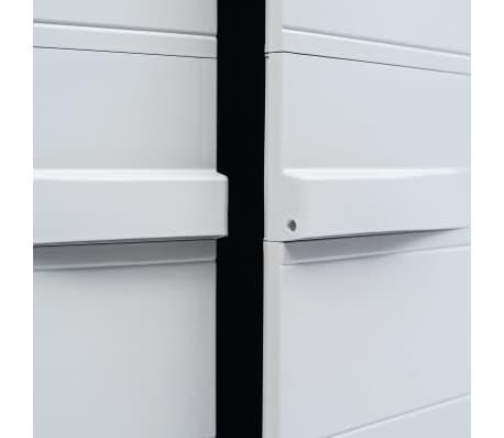 "vidaXL Garden Storage Cabinet XL 30.7""x18.1""x68.9"" Plastic[7/10]"