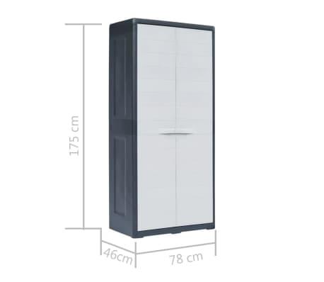 "vidaXL Garden Storage Cabinet XL 30.7""x18.1""x68.9"" Plastic[10/10]"