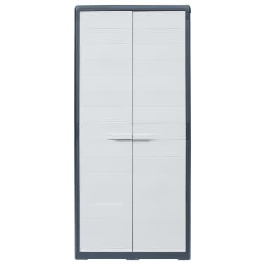 "vidaXL Garden Storage Cabinet XL 30.7""x18.1""x68.9"" Plastic[2/10]"