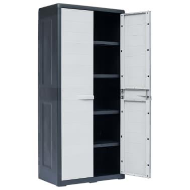 "vidaXL Garden Storage Cabinet XL 30.7""x18.1""x68.9"" Plastic[3/10]"