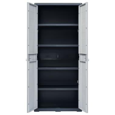 "vidaXL Garden Storage Cabinet XL 30.7""x18.1""x68.9"" Plastic[6/10]"