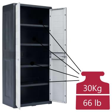 "vidaXL Garden Storage Cabinet XL 30.7""x18.1""x68.9"" Plastic[9/10]"
