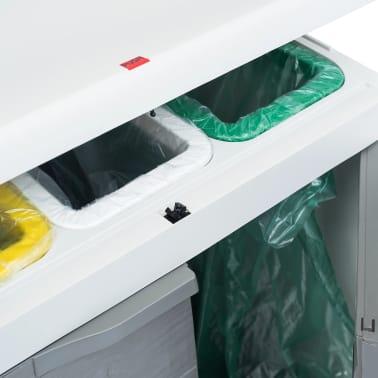 "vidaXL Garden Dustbin with 3 Bags Light Gray 25.6""x15""x40.2""[11/12]"