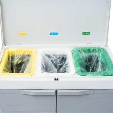 "vidaXL Garden Dustbin with 3 Bags Light Gray 25.6""x15""x40.2""[10/12]"