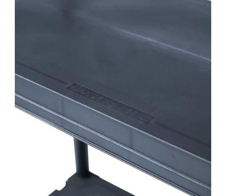 vidaXL Raft de depozitare, negru, 60 x 30 x 138 cm, plastic, 100 kg[6/8]