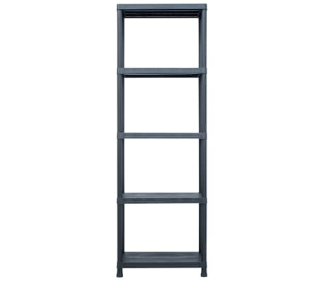 vidaXL Sandėliavimo lentyna, juoda, 60x30x180cm, plastikas, 125kg[2/8]