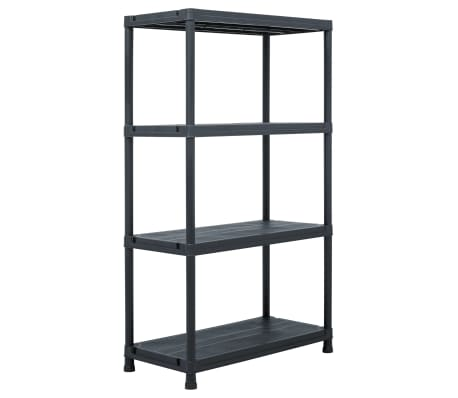 "vidaXL Storage Shelf Rack Black 440.9 lb 31.5""x15.7""x54.3"" Plastic[1/8]"