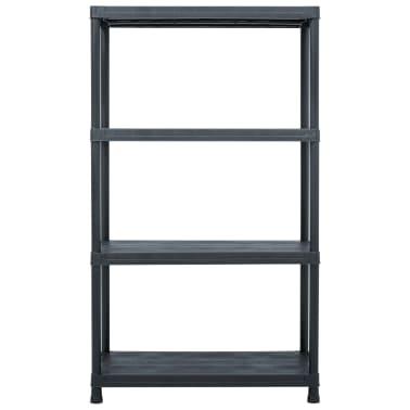 vidaXL Raft de depozitare, negru, 80 x 40 x 138 cm, plastic, 200 kg[2/8]