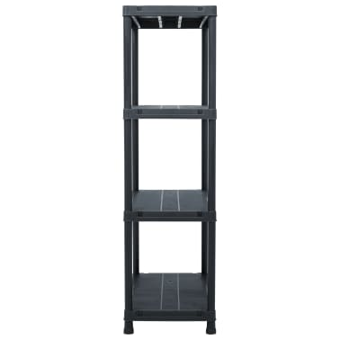 "vidaXL Storage Shelf Rack Black 440.9 lb 31.5""x15.7""x54.3"" Plastic[3/8]"