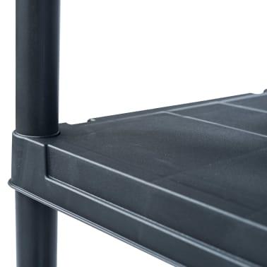 vidaXL Sandėliavimo lentyna, juoda, 80x40x180cm, plastikas, 250kg[4/8]