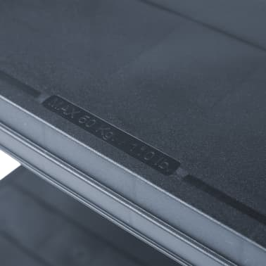 vidaXL Sandėliavimo lentyna, juoda, 80x40x180cm, plastikas, 250kg[6/8]