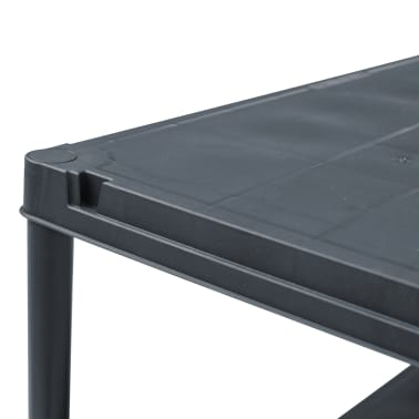 vidaXL Stojalo s policami plastika 500 kg 90x60x180 cm črno[5/8]