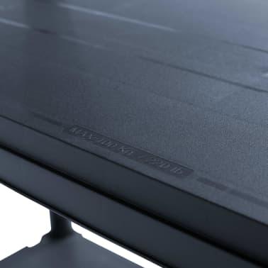 vidaXL Stojalo s policami plastika 500 kg 90x60x180 cm črno[6/8]
