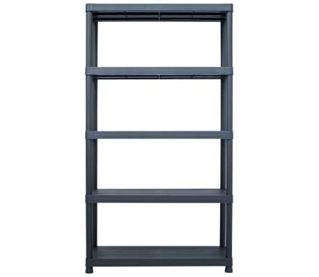 "vidaXL Storage Shelf Rack Black 1102.3 lb 39.4""x15.7""x70.9"" Plastic[2/8]"