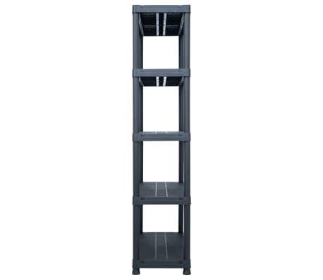 "vidaXL Storage Shelf Rack Black 1102.3 lb 39.4""x15.7""x70.9"" Plastic[3/8]"