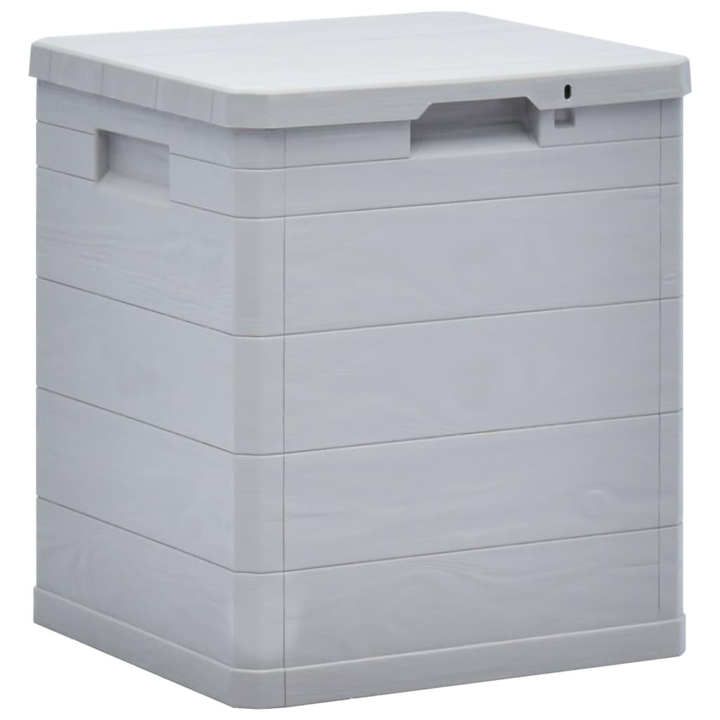 vidaXL Zahradní úložný box 90 l světle šedý