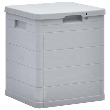 vidaXL Garden Storage Box 23.8 gal Light Gray[1/7]
