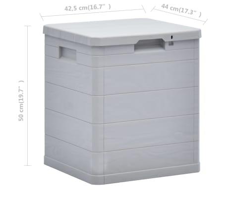 vidaXL Garden Storage Box 23.8 gal Light Gray[7/7]