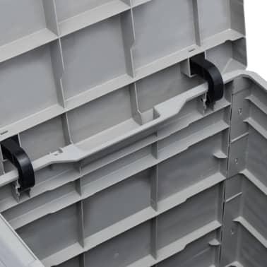vidaXL Garden Storage Box 23.8 gal Light Gray[4/7]