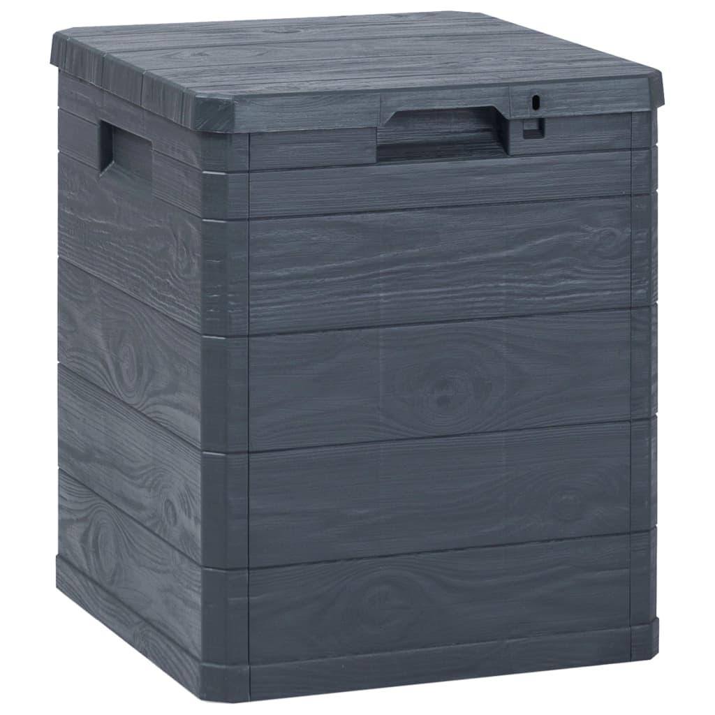 vidaXL Zahradní úložný box 90 l antracitový
