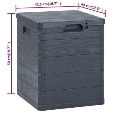 vidaXL Garten-Aufbewahrungsbox 90 L Anthrazit[8/8]