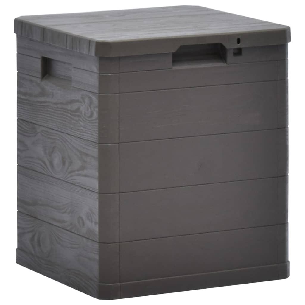 vidaXL Zahradní úložný box 90 l hnědý