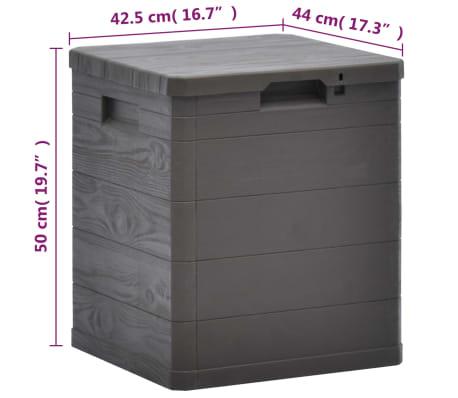 vidaXL Garden Storage Box 23.8 gal Brown[7/7]