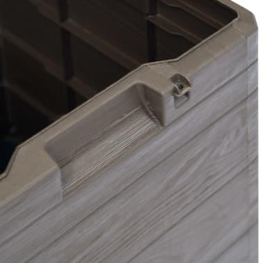 vidaXL Garden Storage Box 23.8 gal Brown[4/7]