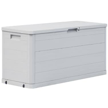 vidaXL Záhradný úložný box 280 l bledošedý[1/10]
