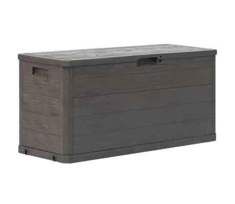 vidaXL Zahradní úložný box hnědý 280 l