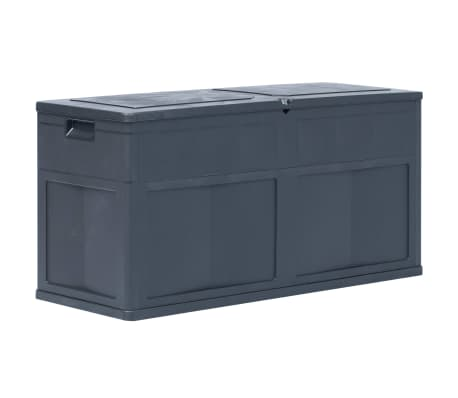 vidaXL Garden Storage Box 320 L Black