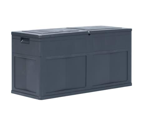 vidaXL Záhradný úložný box čierny 320 l[1/9]