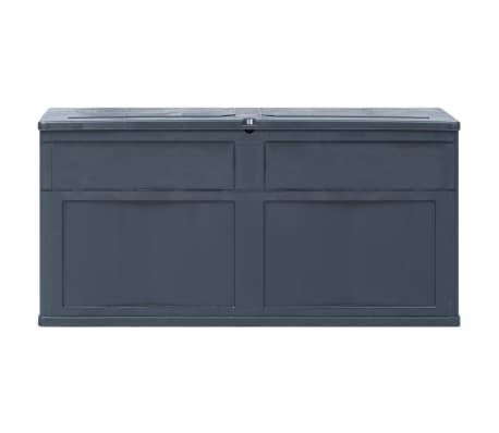 vidaXL Záhradný úložný box čierny 320 l[3/9]