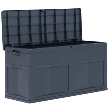 vidaXL Záhradný úložný box čierny 320 l[2/9]